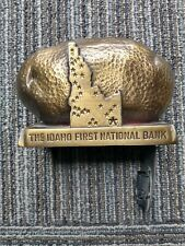 The Idaho First National Bank Vintage Metal Potato Souvenir (opened)