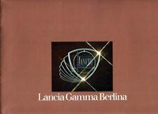 Brochure Depliant Lancia Gamma Berlina 1976 Italiano 20 pagine Perfetta