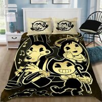 Bendy And The Ink Machine Game Cartoon Elegant Classic 3D Bedding Sets Printed D