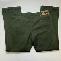 VTG NWOT Lee Mens Green Denim Jeans Tagged 40x30 Mea 39x29.5 Union Made