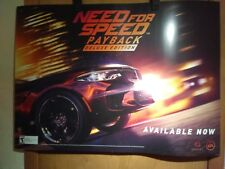 "NEED FOR SPEED PAYBACK DELUXE EDITION 26"" x 36"" GAMESTOP PROMOTIONAL POSTER"