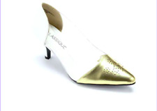CLASSIQUE Gold Tipped Pumps Stiletto Dressy Formal Heels Women's Size: 9.5 NEW!