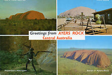 Postcard Australia Greetings from Ayres Rock posted