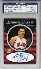 ANTHONY PARKER Signed 1997 SCORE BOARD Basketball CARD Bradley BRAVES PSA/DNA