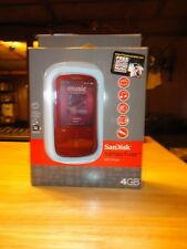SanDisk Sansa Fuze+ RED!! (4 GB) Digital Media Player Brand New