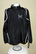 MENS TAPOUT PRO TRACK JACKET WIND BREAKER BLACK MEDIUM TRAINING WORKOUT CASUAL