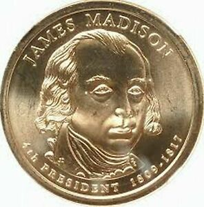 2007 P JAMES MADISON DOLLAR COIN    XF    FREE SHIPPING
