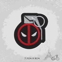 Deadpool Grenade Logo Movie Patch Iron On Patch Sew On Embroidered Patch