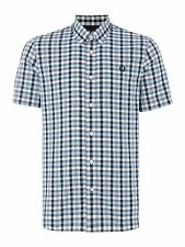 Fred Perry Men's Cotton Short Sleeve Check Casual Shirts & Tops