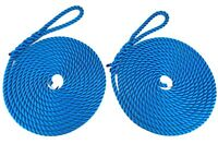 Mooring Rope/Line 2 x 10mm Royal Blue 3 Strand Made and Spliced in UK