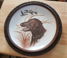 Chocolate Lab collector plate - LABRADOR RETRIEVER  HUNTING DOG