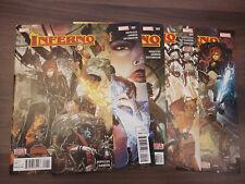 Secret Wars: Inferno (Marvel 2015) #1,2,3,4,5 (Dennis Hopeless Javi Garron)