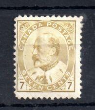 Canada KEVII 1903 7c bistre fine mint MH #180 WS13062
