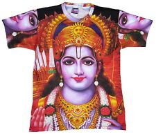 Lord Vishnu Hindu Gott Hippie Goa Party ViP DJ Tattoo Art Designer T-Shirt L
