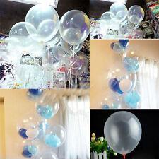 "10 pcs Transparent Latex Balloons Birthday Wedding Party Decor 10"""