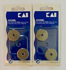 KAI 5028BL 28mm Rotary Cutter 4 Blades in a package With Free Shipping