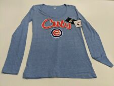 Chicago Cubs Women's Medium Scoop Neck Long Sleeve Graphic Shirt Campus...