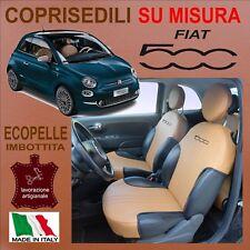 COPPIA COPRISEDILI ANTERIORI ECOPELLE PER FIAT 500 dal 2007