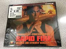 Rapid Fire Brandon Lee DIVX Format, long discontinued, VERY RARE!!