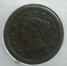 1851 Braided Hair Large Cent - Fine Plus - F+