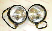 12V Black Head Light Pair for JOHN DEERE CASE IH ALLIS WHITE OLIVER Tractor