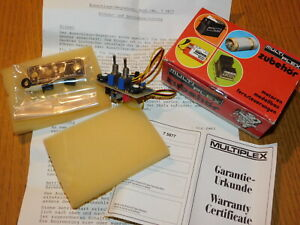 vintage MULTIPLEX 75877 MPX 810222 AUSSCHLAGS-BEGRENZER interrupteur RATE SWITCH