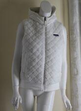Patagonia -Sz S Lux White Art-to-Wear Sherpa Reversible White Vest *Logo*