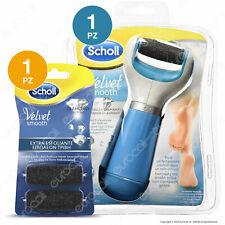 Scholl Roll Ricaricabile Velvet Soft + 2 Testine Ricambio Extra Esfoliante