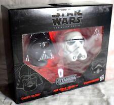 Star Wars Black Series Titanium 03 Darth Vader & Stormtrooper Helmets Hasbro