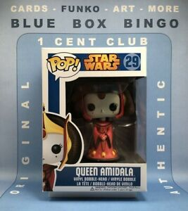 QUEEN AMIDALA #29 Blue Box AUTHENTIC Funko Pop Star Wars Vaulted Large Letters