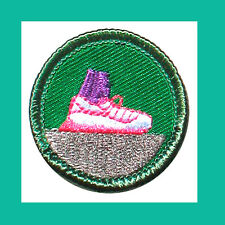 WALKING FOR FITNESS Jr. Jade Girl Scout BADGE NEW Running Shoe Multi=1 Ship Chrg