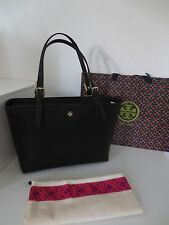 Tory BURCH York Buckle TOTE BAG BLACK NERO BORSA A TRACOLLA TASCHE NUOVO