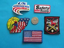 5 Usa Ski Skiing Racing Snowboard Safety Downhill Cross Patch Crest Emblem