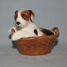 Royal Doulton Hn2587 Terrier In A Basket Dog old English Made