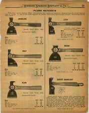 1926 PAPER AD Plumb Hatchet Broad Half Claw Shingling Cruso