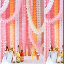 Hanging Paper Garlands Flora Chain Wedding Party Ceiling Banner Decoration 3.6m