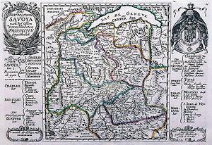 Antique map, Das Hertzogthum Savoya