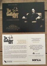 The Godfather promotional 40th anniversary postcard, new