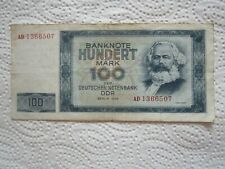 alter Geldschein, 100 Mark, DDR 1964