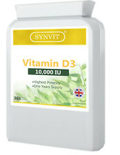 Vitamin D3 10000iu High Strength 365 Soft Gel Capsules Vit D d3 Immune & Bone