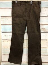 Levi's Strauss 1517 1529 Men Brown Bootcut Cords Jean Size W42 L32