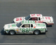 BOBBY ALLISON & GEOFF BODINE RACING ON TRACK 8X10 GLOSSY PHOTO #N2