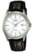 Casio MTP1183E-7A Men's Leather Band Silver Dial Date Analog Dress Watch