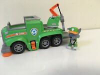PAW Patrol Rocky's Ultimate Rescue Recycling Truck with Moving Crane & Ramp EUC