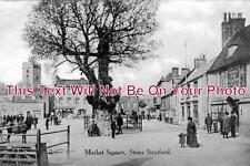 BU 222 - Market Square, Stony Stratford, Buckinghamshire - 6x4 Photo
