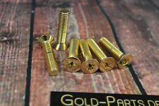 Senkschraube mit TX M8x50 GOLD vergoldet M8 Schraube Sechsrund Sternförmig
