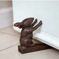Cute Rabbit Vintage Doorstop Cast Iron Door Stop Unique Antique Animal Stopper