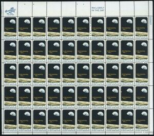 Apollo 8 Space Complete Sheet Fifty 6 Cent Postage Stamps Scott 1371