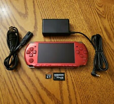 Radiant Red Sony PSP 3000 System with Charger, 64GB Memory Card - Fast Ship