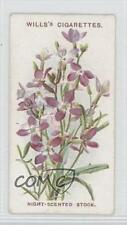 1913 Wills Old English Garden Flowers Series 2 #6 Night-Scented Stock Card 0a1